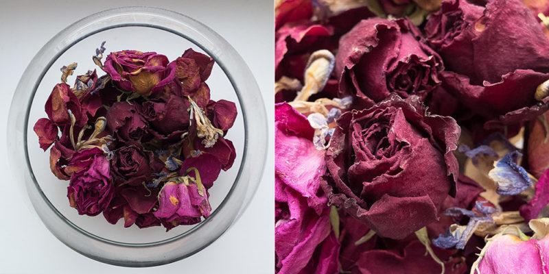 Как правильно высушить лепестки роз